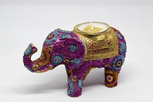 Pink Elephant Tealight Holder