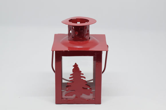 Red Christmas Tree Lantern (Individual)