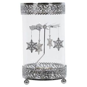 Snowflake Rotating Fan Tealight Holder