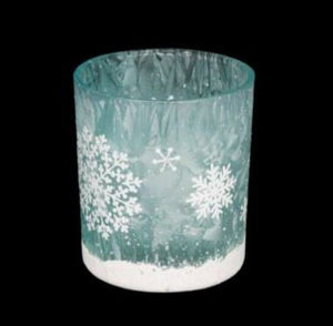 Glass Snowflake Tealight