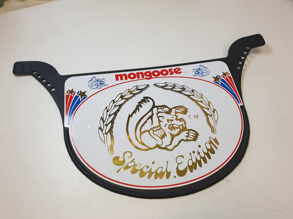 Mongoose SPECIAL EDITION race plate WHITE