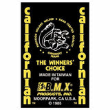 1985 Californian Mongoose decal set - Yellow