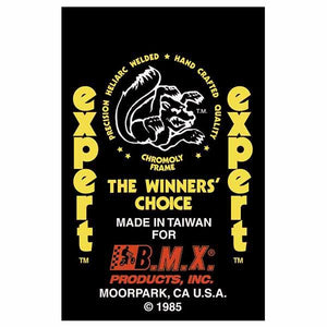 1985 Expert Mongoose decal set - Orange/Yellow