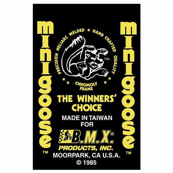 1985 Minigoose Mongoose decal set