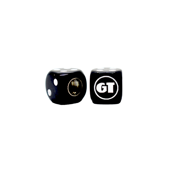 GT BMX Dice Tire Valve Caps (Pair) - Black