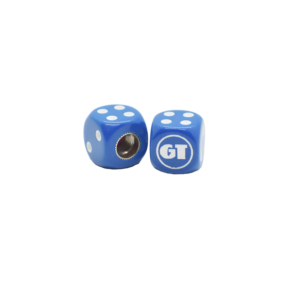 GT BMX Dice Tire Valve Caps (Pair) - Blue