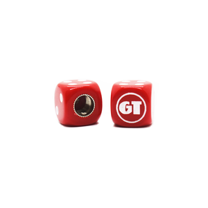 GT BMX Dice Tire Valve Caps (Pair) - Red
