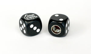 Mongoose Maurice BMX Dice Tire Valve Caps (Pair) - Black