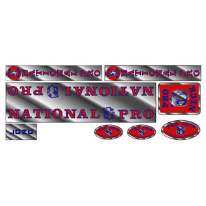 Pro Neck - National Pro - Long chrome decal set