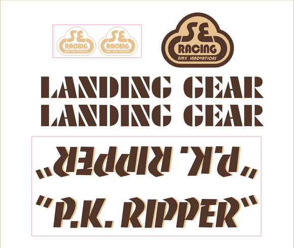 P.K. Ripper Decal set - brown w/tan shadow