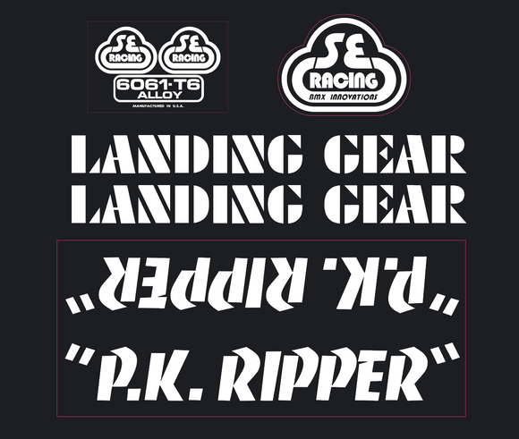 P.K. Ripper Decal set - white