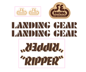 Ripper Decal set - brown w/tan shadow