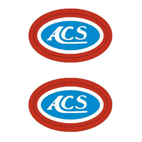 Acs - Oval Hub Decals Old School Bmx Decal