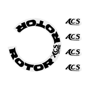 Acs - Rotor Decal Black Old School Bmx