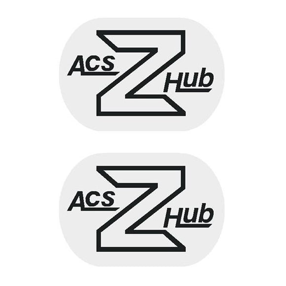 Acs - Z Hub Decals Black Old School Bmx Decal