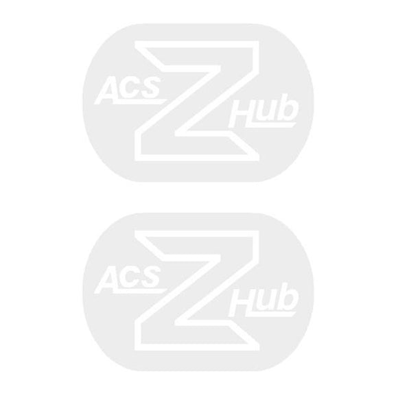 Acs - Z Hub Decals White Old School Bmx Decal