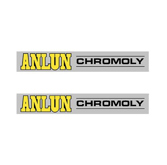 Anlun - Crank decal set Chrome