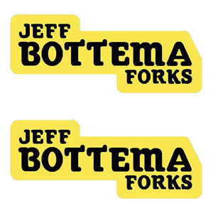 Bottema - Jeff Forks Yellow Fork Decals Old School Bmx Decal