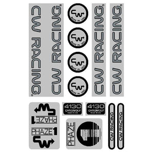 Cw - Phase 1 84/85 Black Over Chrome Decal Set Old School Bmx Decal-Set