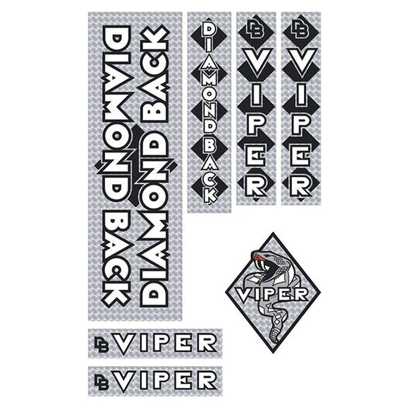 Diamond Back - 1983 Viper - Silver PRISM DB decal set