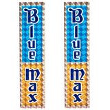 1980-81 Blue Max Blue/Gold Prism Decal set