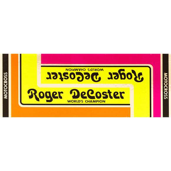 1976-81 Roger DeCoster Decal set