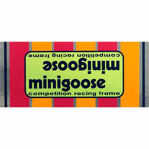 1977-80 Minigoose Mongoose decal set