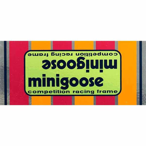 1977-80 Minigoose Mongoose Green top/down tube decal