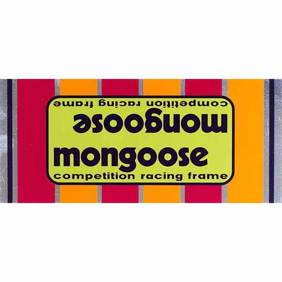 1977-80 Mongoose Motomag Green top tube decal