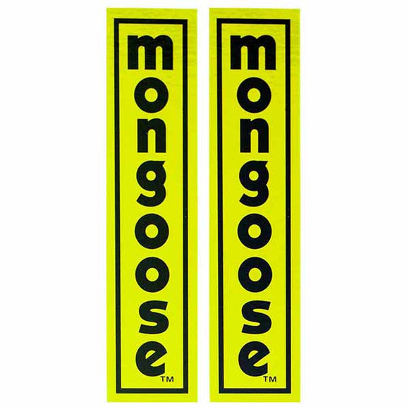 1977-79 Mongoose fork decal set