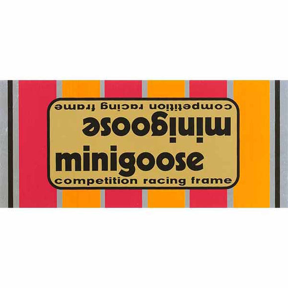1980-81 Minigoose Mongoose decal set