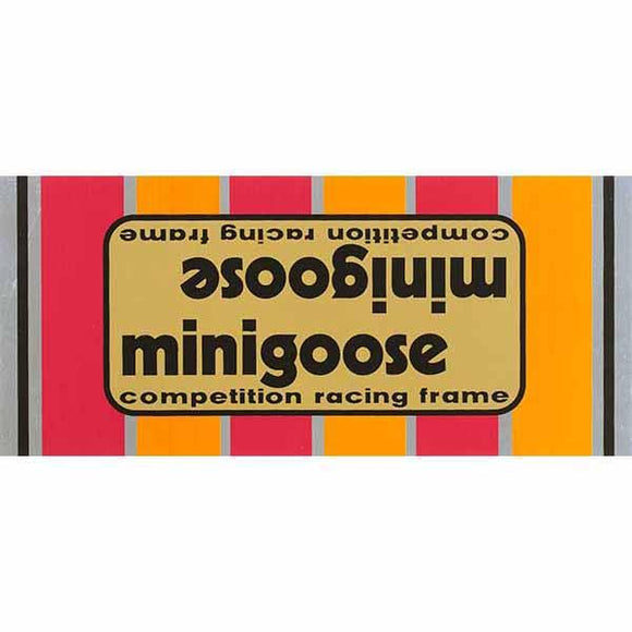 1980-81 Minigoose Mongoose Gold down tube decal