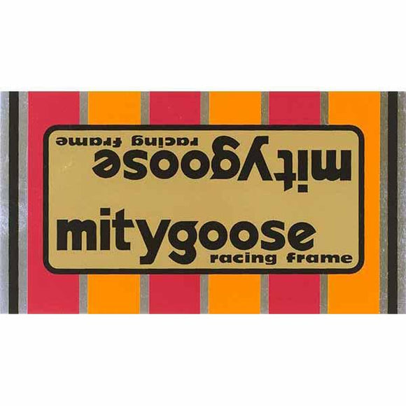 1980-81 Mitygoose Mongoose Gold down tube decal