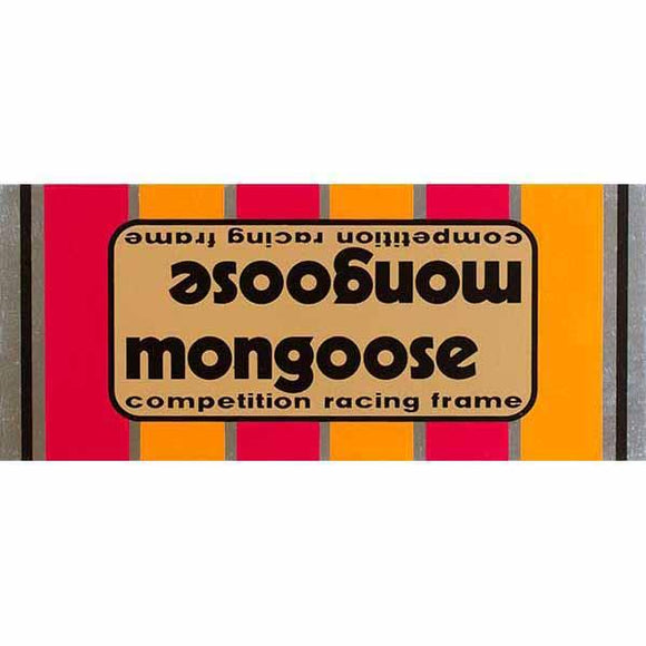 1980-81 Mongoose Motomag Gold down tube decal