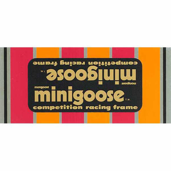 1982-83 Minigoose Mongoose decal set