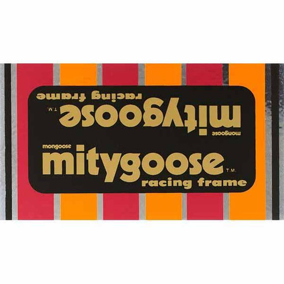1982-83 Mitygoose Mongoose Black down tube decal