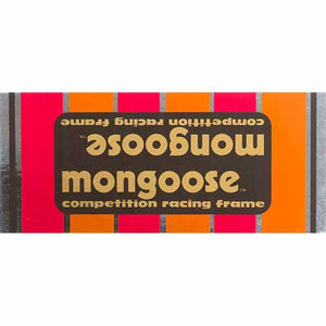 1982-83 Mongoose Motomag Black down tube decal
