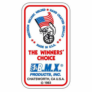 1983 Mongoose Maurice Flag waving seat tube decal