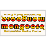 1983 Mitygoose Mongoose decal set