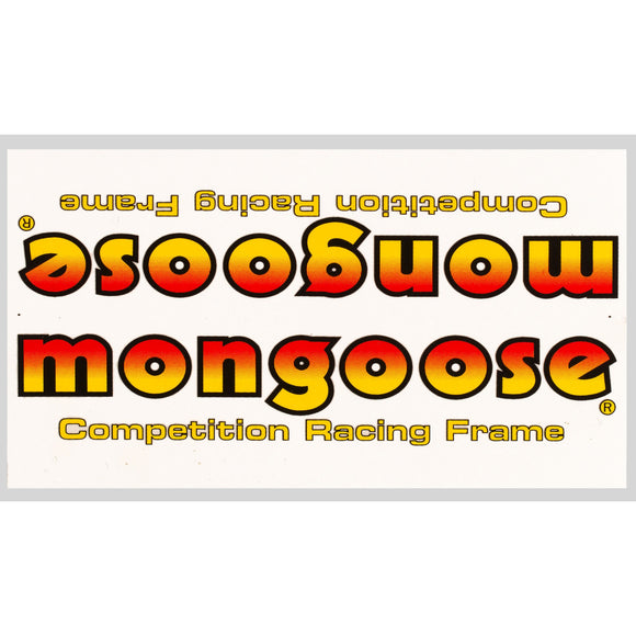 1983-85 Mongoose down tube decal