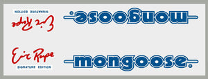 1985-86 Eric Rupe Mongoose down tube decal