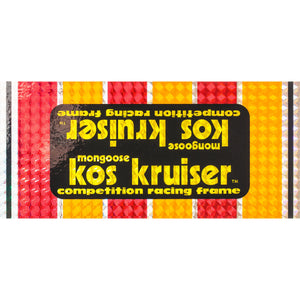 1980-81 Kos Kruiser PRISM Mongoose down tube decal