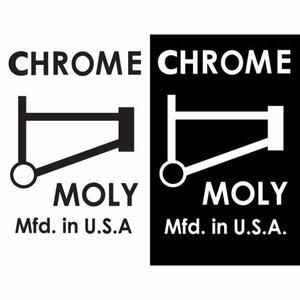 "1980-83 ""CHROME MOLY"" top tube decal"