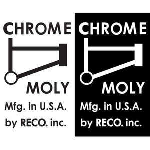 "1977-79 ""CHROME MOLY - RECO"" mongoose top tube decal"