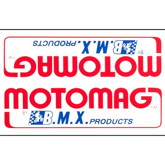 1975-81 Mongoose MOTOMAG down tube decal