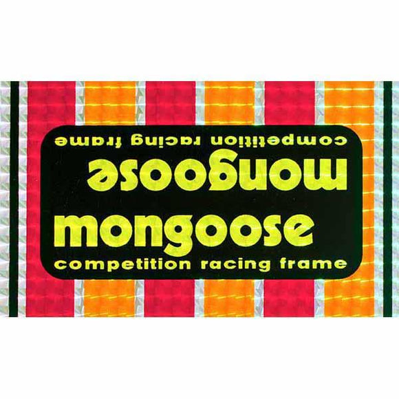1978-79 Team Mongoose Short PRISM down tube decal
