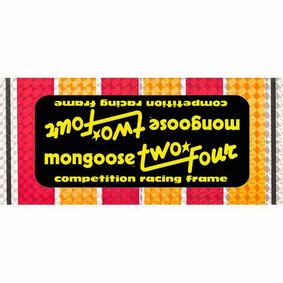 1982-83 Mongoose Two/Four PRISM down tube decal