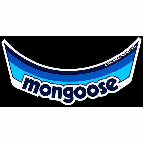 Mongoose Visor Decal - Blue