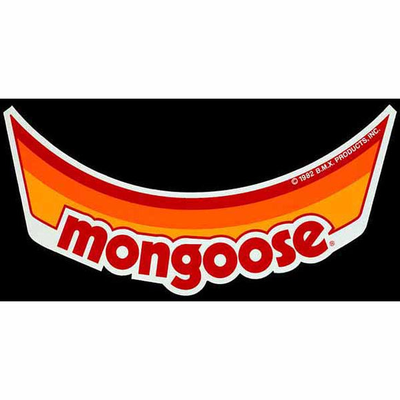 Mongoose Visor Decal - Orange