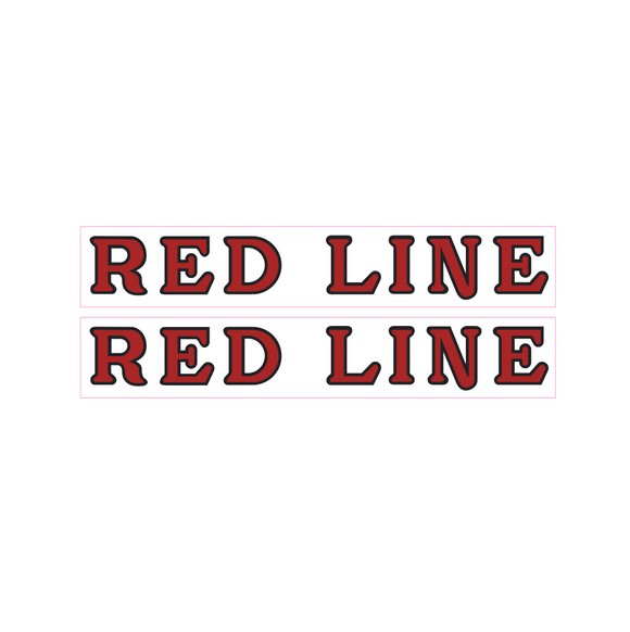 Redline early fork decals - red
